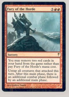 1x Fury of the Horde English -BFG- MTG Magic ColdSnap Slight Play x1