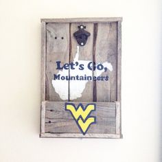 BUY NOW AND GET IT IN TIME! Bottle Opener Decor West Virginia Flying WV by RedBearRustics
