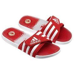 adidas red slides