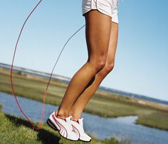 "The Ultimate Guide to Jump Rope: Workout 2: Add Strength. Once you're feeling good about the rope, add a little toning to the routine like celebrity trainer Jackie Warner suggests to her clients. Her 10-minute workout includes ""in-and-out"" push-ups to tone those arms along with some cool aerobics that'll keep your heart pumping. #SelfMagazine"