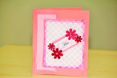Handmade card for Mother's Day By Ana Perez