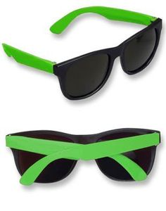 Customer Image Gallery for 12 Pairs Neon Wayfarer Sunglasses Kids Teen Party Favors Kids Sunglasses, Wayfarer Sunglasses, Black Sunglasses, Vintage Sunglasses, Black Neon, Neon Green, Teen Party Favors, Rhode Island Novelty, Gifts For Teens