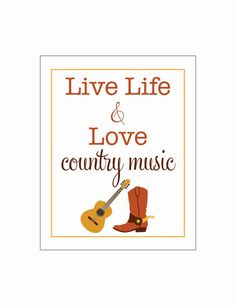live life and love COUNTRY MUSIC cowboy boot by LiveLifeAndLove, $10.75