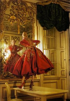 Jessica Stam in Christian Dior Haute Couture photographed by Corinne Day for…