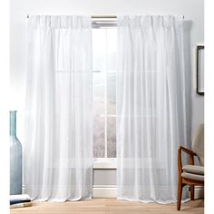 Free 2-day shipping on qualified orders over $35. Buy Exclusive Home Penny Sheer Pinch Pleat Curtain Panel Pair at Walmart.com