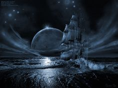 Ghost Pirate Ship Photos | Ghost Ship Poster image - vector clip art online, royalty free ...