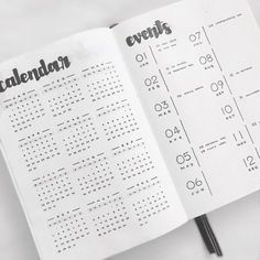 Bullet journal year at a glance, unique date headers, monthly key events log. | @jeffwastespaper