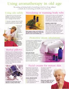 Using aromatherapy in old age