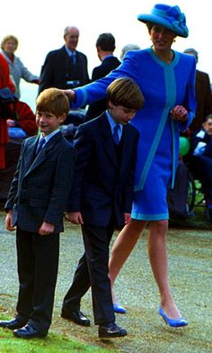Diana, William & Harry