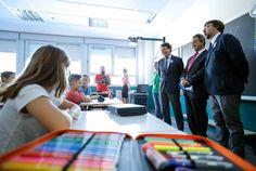 Ignacio González visita el nuevo colegio San Juan Bautista, en Arganda del Rey, con motivo del inicio del curso escolar 2014-2015