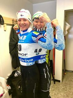 Oberhof. Jan. 2017. The joy after decision IBU replace WC from Tumen to Kontiolahti in Finland :-)
