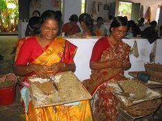 Beedi factory in Tellicherry.  North Kerala.  India.