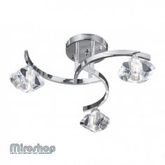 Searchlight Sculptured Ice 8083-3CC