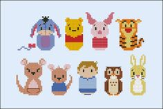 Winnie the Pooh (extended version) - Cartoons - Mini People - Cross Stitch Patterns - Products