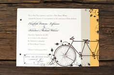 Tandem Bicycle Wedding Invitations | Bike Wedding Invitations