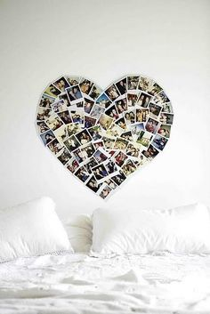 I want to make one of these for my new room. I want to make everything for my new room. My New Room, My Room, Photowall Ideas, Photo Polaroid, Polaroid Collage, Polaroid Display, Diy Polaroid, Polaroid Decoration, Polaroid Pictures Display