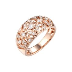 Fashion Ring in Rose Gold with Diamond - Fashion - Peter Lam Jewellery Black Hills Gold Jewelry, Gold Jewelry Simple, Contemporary Jewellery, Modern Jewelry, Expensive Jewelry, Fashion Rings, Diamond Jewelry, Jewelry Collection, Jewelry Design