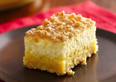 Creme Brûlée Cheesecake Bars.. Easily made with mixes.. but tastes like you've slaved in the kitchen.  YUM!