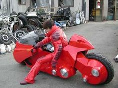 Buy Real Life Kaneda's Bike from Akira at Wish - Shopping Made Fun Concept Motorcycles, Custom Motorcycles, Custom Bikes, Cars And Motorcycles, Scooter Custom, Red Motorcycle, Futuristic Motorcycle, Kaneda Bike, Akira Anime