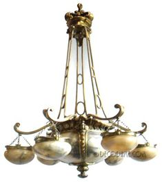This is not contemporary - image from a gallery of vintage and/or antique objects. French Art Nouveau Chandelier  from Le Café de la Paix at the Grand-Hôtel in Paris, France Circa late 1800's-early 1900, France