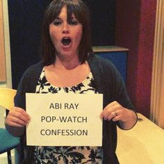 You'll never believe what song has @abi_ray grooving in studio. This is her #popwatchconfession Do you have any guilty pleasures you groove to when no one is looking?