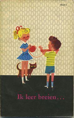 Ik leer breien... - I'm learnning to knit - Leerboekje voor de jeugd - bookcover
