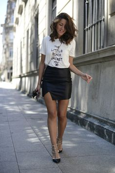 b0d3f036f7 Sheinside tee, Choies skirt, Valentino shoes [source: lovelypepa]-So pretty  love the combination of pieces!