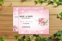 wedding save the date template creativework247