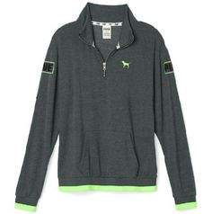 NWOT VS Pink Half Zip NWOT Never Worn. Ordered online thinking I'd want a medium but when it came in the mail I realized I need a small.  No holes, stains, or fading as it is brand new.  Has been sitting in my closest since purchase. Grey and green.   **I am ISO a Small half zip in addition to selling this (does not need to be this print) so if you have one you want me to look at please comment or tag me!  **Make me an offer! PINK Victoria's Secret Sweaters