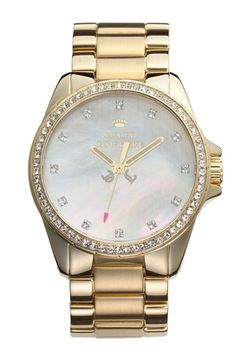 Juicy Couture 'Stella' Crystal Bezel Watch, 40mm | Nordstrom