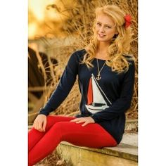 THML:Come Sail Away With Me Sweater-Navy