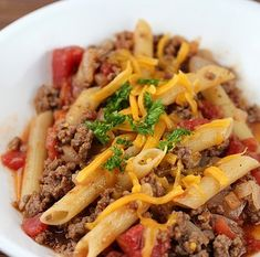Recipe for Cheeseburger Pasta - If you need a quick recipe for dinner to get out of a jam try this Cheeseburger Pasta Recipe. This recipe has very little prep or cooking time-you can have dinner on the table in a half an hour. The flavors blend well together and it is a very good dish for a simple recipe.