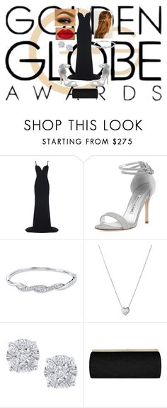 """""""Golden Globes Awards"""" by shannon-alberts ❤ liked on Polyvore featuring STELLA McCARTNEY, Manolo Blahnik, Links of London, Effy Jewelry, Jimmy Choo, RedCarpet, GoldenGlobesAwards and GGA"""
