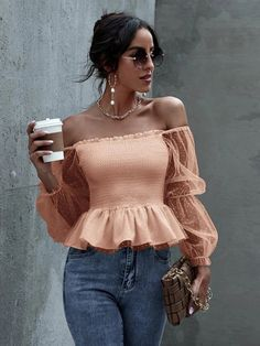 Lace Body, Spandex Fabric, Cute Tops, Off Shoulder Blouse, Sleeves, Shirts, Shopping, Clothes, Women