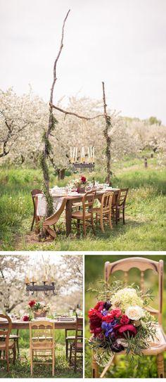 orchard wedding, photo: M Three Studio Photography