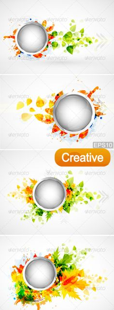 Creative Nature Design Elements  #GraphicRiver         Nature design elements: glossy metal circles framed with green and orange leaves, arrows and random textured shapes.  EPS10 Fully editable vector. EPS file provided only. All design elements included in EPS file, no files of other formats.     Created: 19June12 GraphicsFilesIncluded: VectorEPS Layered: No MinimumAdobeCSVersion: CS Tags: arrow #autumn #background #blue #circle #design #element #gray #green #leaf #maple #metal #nature…
