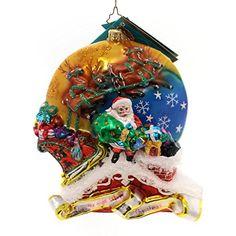 Christopher Radko TWAS THE NIGHT Blown Glass Ornament Santa Numbered Ltd Ed