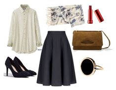 """""""Chick Skirt"""" by aneeqlondon on Polyvore featuring Uniqlo, MANGO, Ginette NY and modestfashion"""