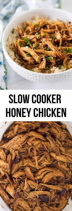 Slow cooker honey chicken with rice on iheartnaptime.net ... super easy recipe to make and absolutely delicious!