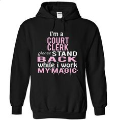 Im a COURT CLERK -STAND - #striped shirt #couple sweatshirt. MORE INFO => https://www.sunfrog.com/Funny/I-Black-4861380-Hoodie.html?68278