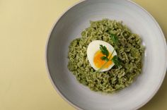Green Coconut Rice + 7 Minute Egg