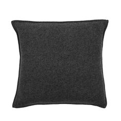Discover the Zoeppritz Soft Wool Cushion - 50x50cm - Black at Amara