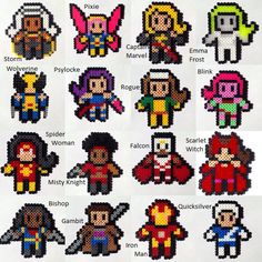 Choose 3 Marvel Heroes Perler / Hama Bead por HouseOfVicness