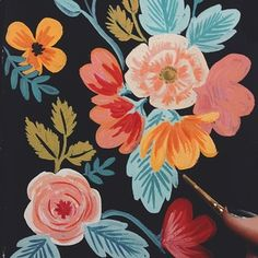 - Photo taken by Anna Bond Anna Bond, Textiles, Happy Flowers, Surface Pattern Design, Pictures To Paint, Painting Patterns, Watercolor Flowers, Flower Art, Cool Art