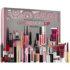 Sephora Favorites - Give Me More Lip  lipstick sampler. Got this for my birthday. So far I love everything I've tried! Great set with a couple of full size lippies!