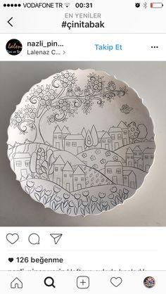 Dot Art Painting, China Painting, Pottery Painting, Ceramic Painting, Fabric Painting, Ceramic Art, Painted Plates, Hand Painted, Paint Your Own Pottery