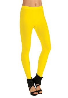 Rubie's Fancy Dress Tights One Size Yellow Leggings, Women's Leggings, Tights, Winter Leggings, Dance Outfits, Girl Outfits, Health Club, Sports Activities, Physical Fitness