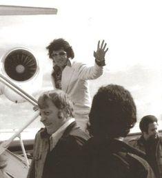 Elvis Leaving on His Jet Concert Tour 1972