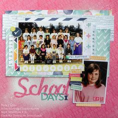 Becky Litz Sept Creative Kit from My Creative Scrapbook Kit Club School Scrapbook, Scrapbook Kit, Scrapbooking, Scrapbook Layouts, School Memories, School Days, Echo Park, Sketch Design, Vintage Photos