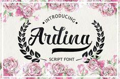 Ardina Script by debut studio on @creativemarket